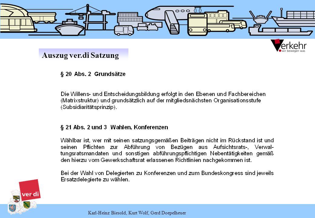 Karl-Heinz Biesold, Kurt Wolf, Gerd Doepelheuer Die Statuten der FB 1 bis 7 und 11 bis 13 bestimmen, dass die Vorkonferenzen in vierjährigem Rhythmus und in zeitlicher Verknüpfung mit der höheren Konferenzen und des Bundeskongresses stattfinden.