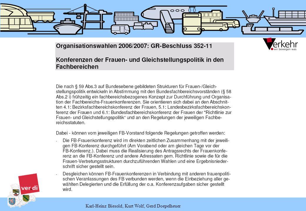 Karl-Heinz Biesold, Kurt Wolf, Gerd Doepelheuer Delegierten- schlüssel Stand: Dezember 2005