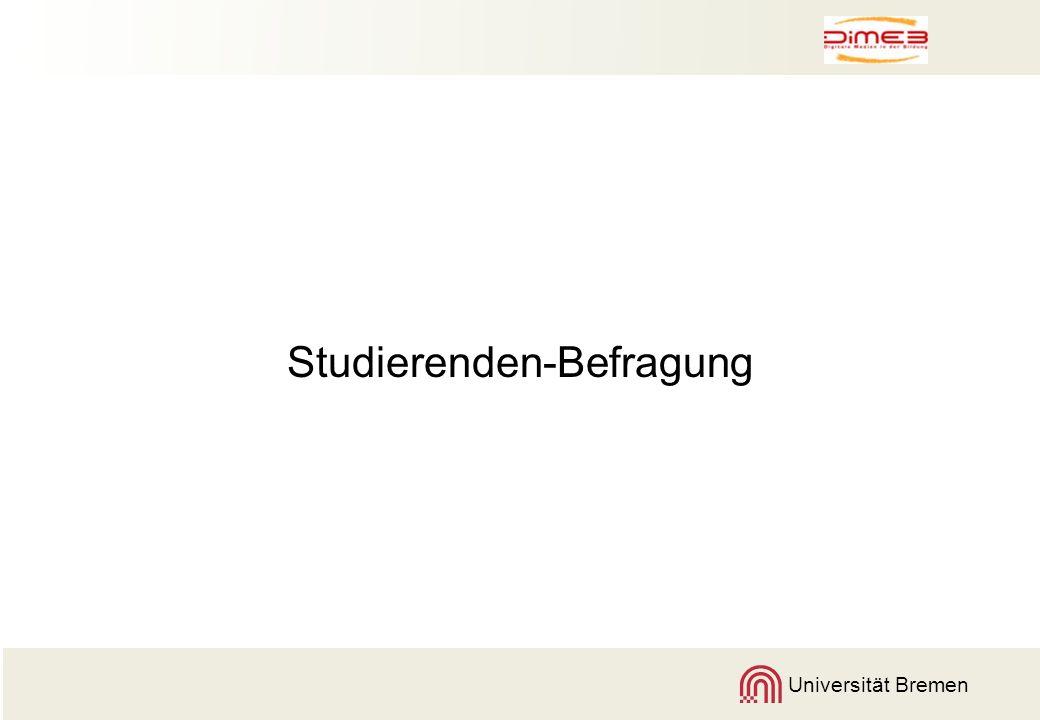 Universität Bremen Studierenden-Befragung