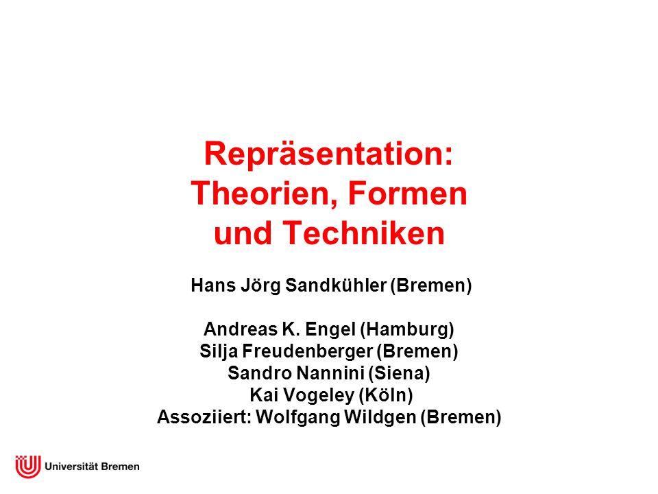Repräsentation: Theorien, Formen und Techniken Hans Jörg Sandkühler (Bremen) Andreas K. Engel (Hamburg) Silja Freudenberger (Bremen) Sandro Nannini (S