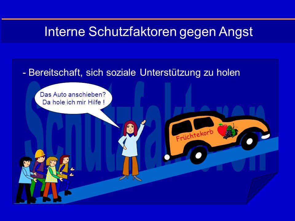 - Bereitschaft, sich soziale Unterstützung zu holen Das Auto anschieben.