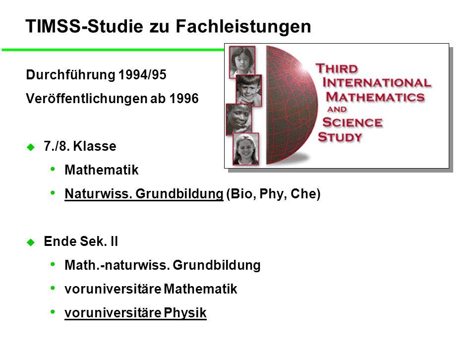 Leistungen in Mathe und NaWi 8.Klasse Singapur D: Hauptsch.
