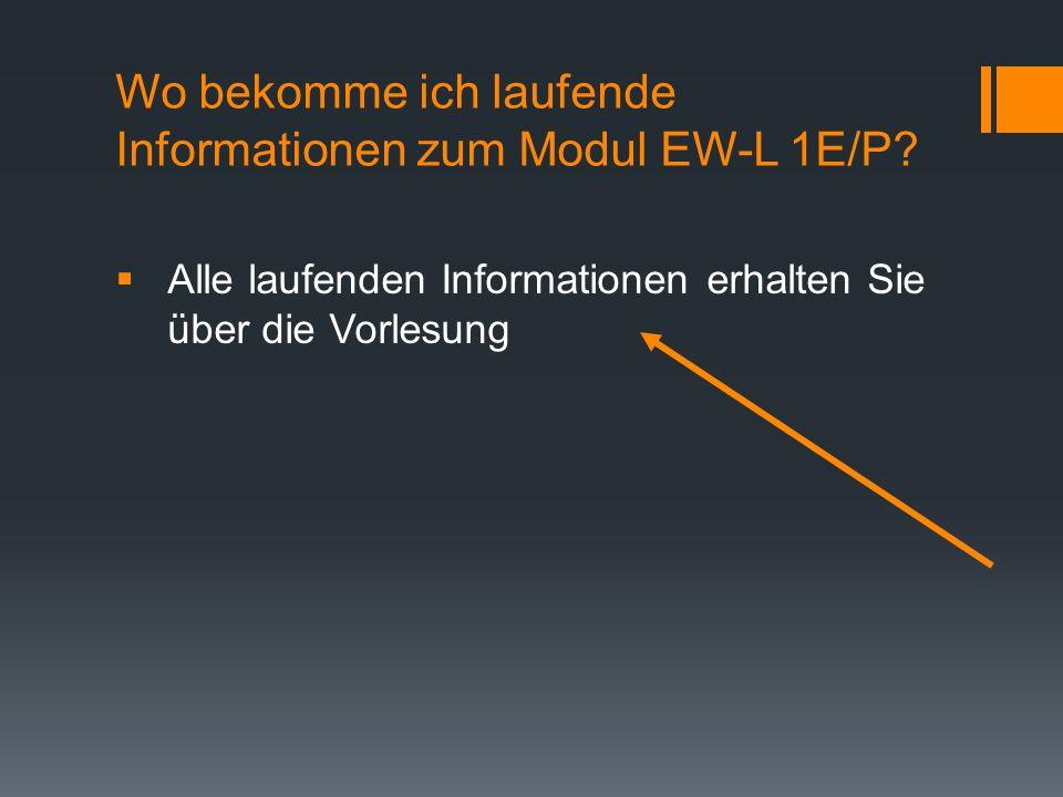 Wo bekomme ich laufende Informationen zum Modul EW-L 1E/P.