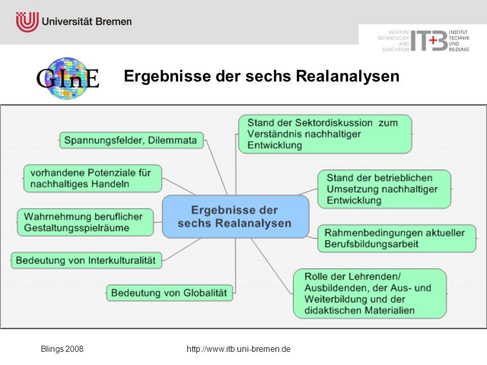 Blings 2008http://www.itb.uni-bremen.de Vielen Dank für Ihr Interesse.