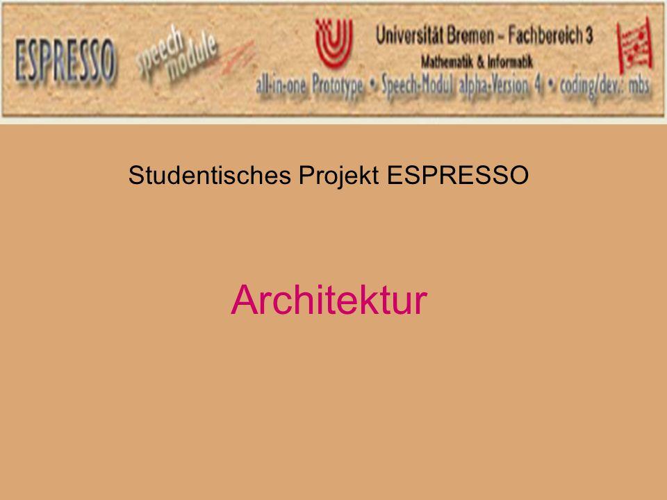 Studentisches Projekt ESPRESSO Architektur