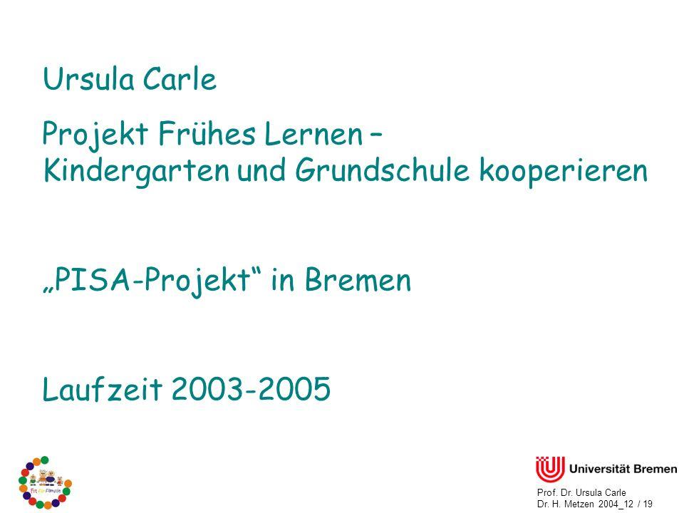 Prof.Dr. Ursula Carle Dr. H.