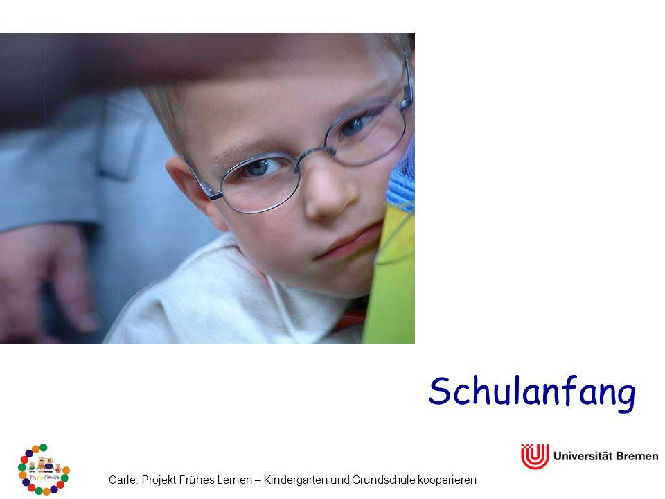 Schulanfang Carle: Projekt Frühes Lernen – Kindergarten und Grundschule kooperieren