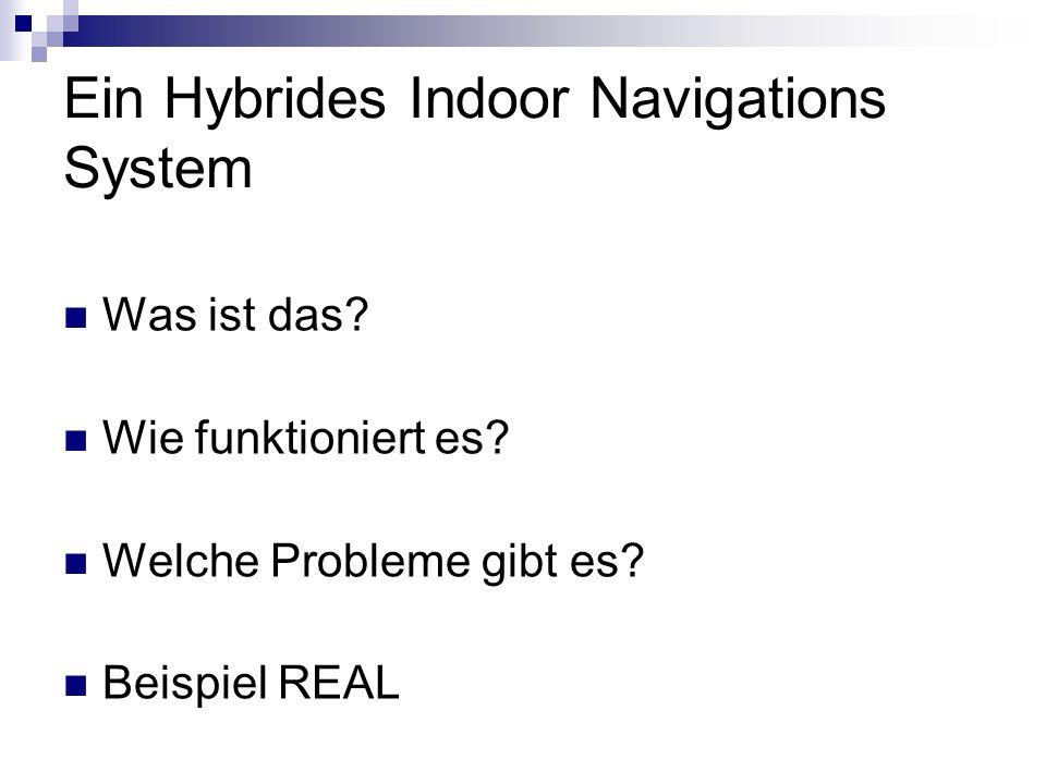 Ein Hybrides Indoor Navigations System Was ist das? Wie funktioniert es? Welche Probleme gibt es? Beispiel REAL