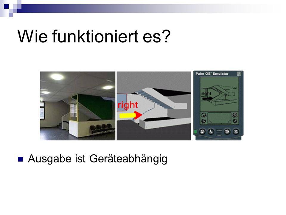 Hardware PDA (iPAQ 3620) mit integriertem IrDA Kleine Infrarot – Sender an den Malls PDA Software in TCL / TK implementiert Vorstellbar: Festes schnelles System (Desktop – Rechner) G3 Netzwerk (Kommunikation)