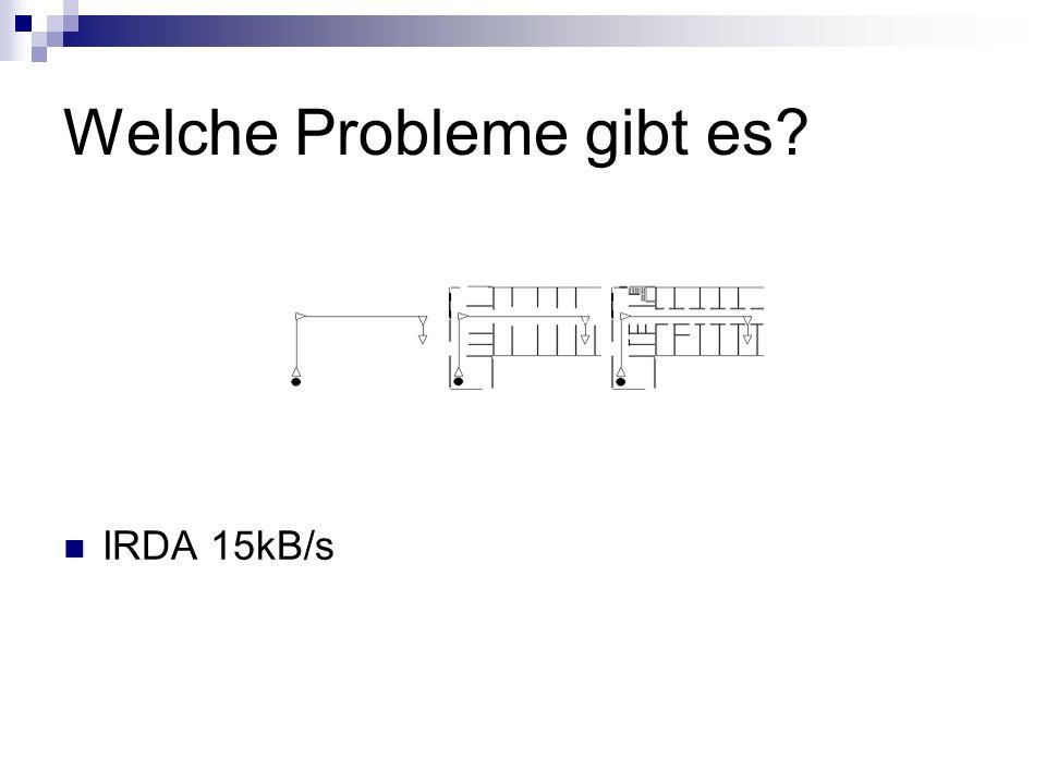 Welche Probleme gibt es? IRDA 15kB/s