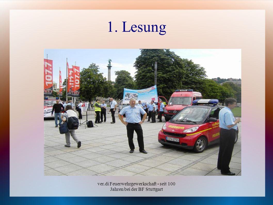 ver.di Feuerwehrgewerkschaft - seit 100 Jahren bei der BF Stuttgart 1. Lesung