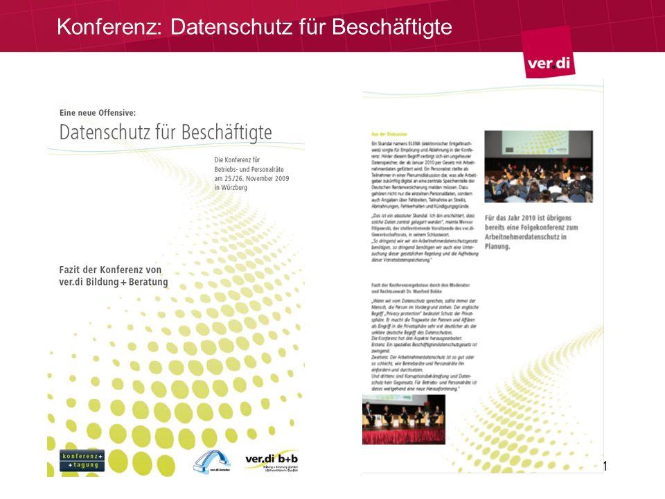 21 Konferenz: Datenschutz für Beschäftigte