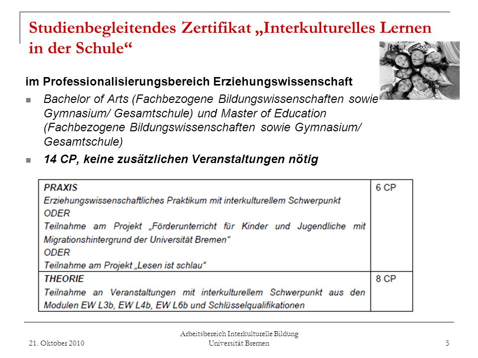 Arbeitsbereich Interkulturelle Bildung Universität Bremen Was ist Interkulturelle Bildung? Die kompetente Gestaltung der Beziehungen und Bildungsproze