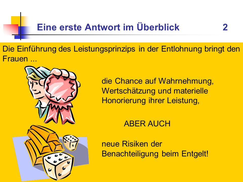GEFA Forschung + Beratung, Dr. Andrea Jochmann-Döll, 0201/4868037, jochmann-doell@gefa-forschung-beratung.de Eine erste Antwort im Überblick 2 Die Ein