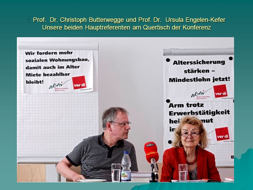 : Prof. Dr. Christoph Butterwegge und Prof. Dr.