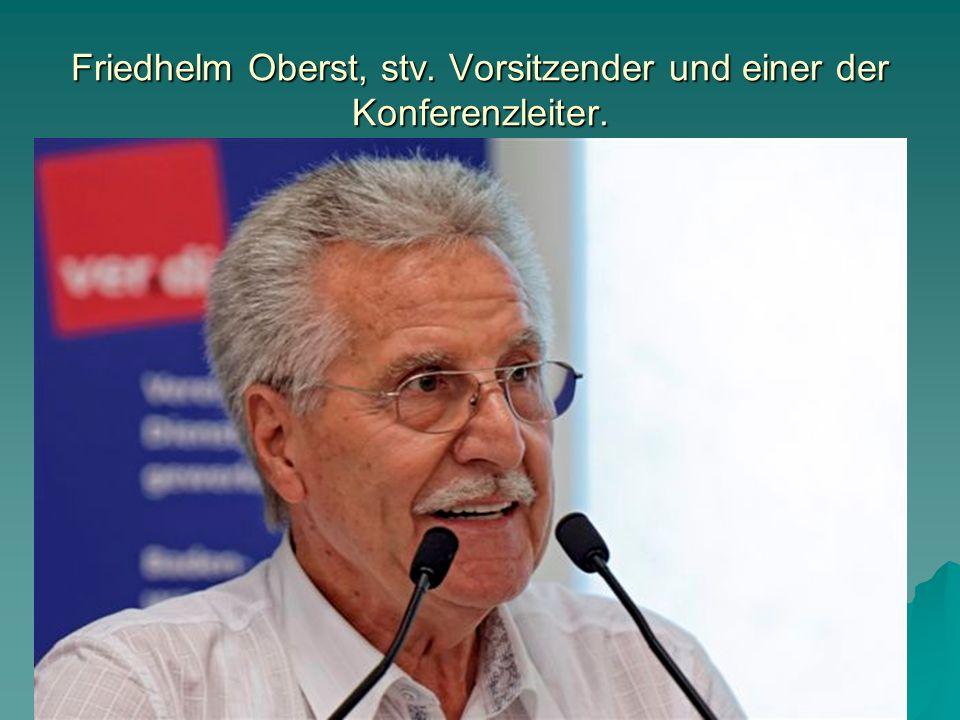 Friedhelm Oberst, stv. Vorsitzender und einer der Konferenzleiter.