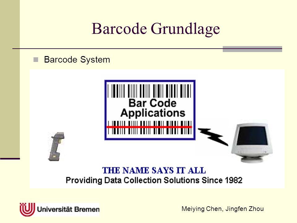 Meiying Chen, Jingfen Zhou Identifikationstechnik MICR (Magnetic Ink Character Recognition) und Barcode MICR ist ein Charaktererkennungssystem von spezieller Tinte und magnetischer Charakter.
