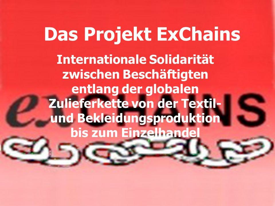 Das Projekt ExChains Internationale Solidarität zwischen Beschäftigten entlang der globalen Zulieferkette von der Textil- und Bekleidungsproduktion bi