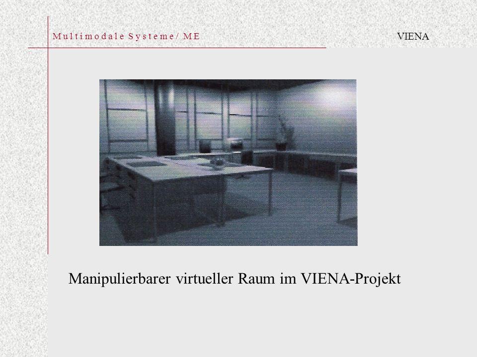 M u l t i m o d a l e S y s t e m e / M E Manipulierbarer virtueller Raum im VIENA-Projekt VIENA