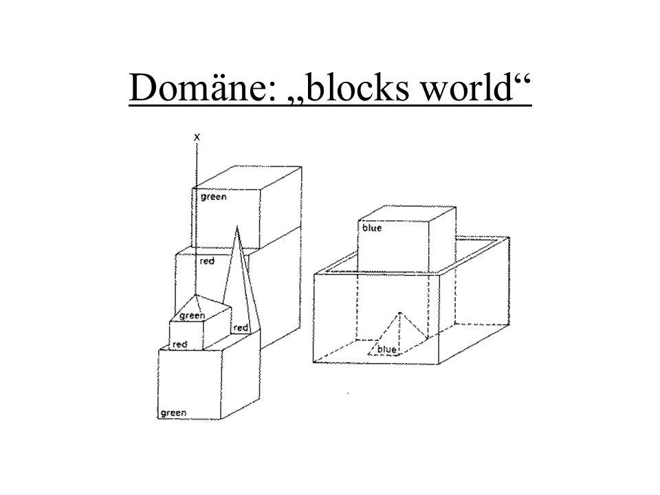 Domäne: blocks world