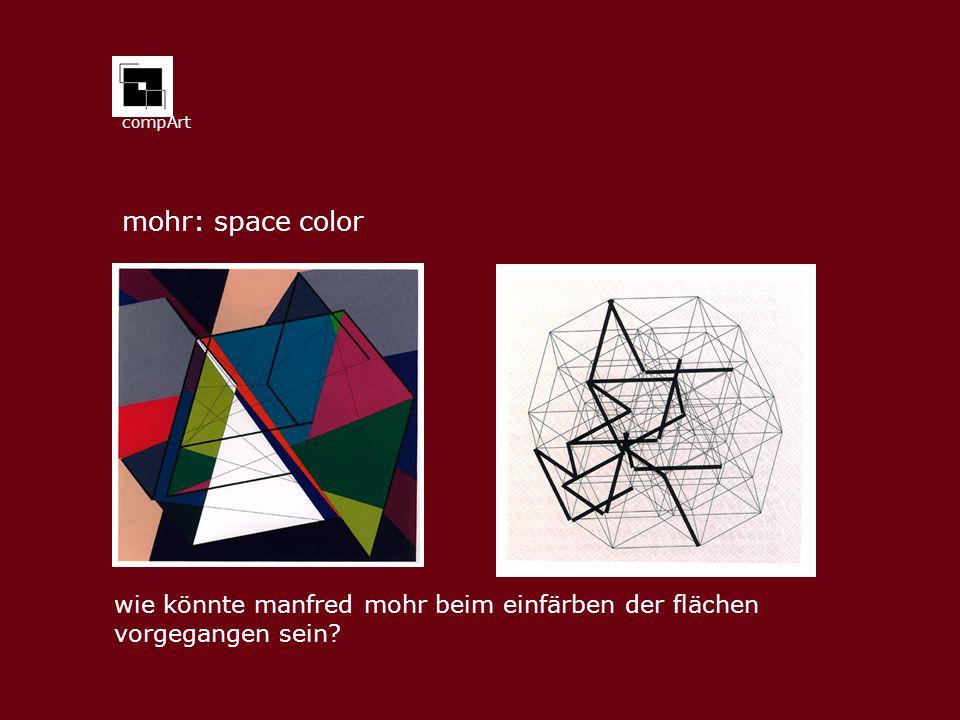 compArt mohr: space color wie könnte manfred mohr beim einfärben der flächen vorgegangen sein?
