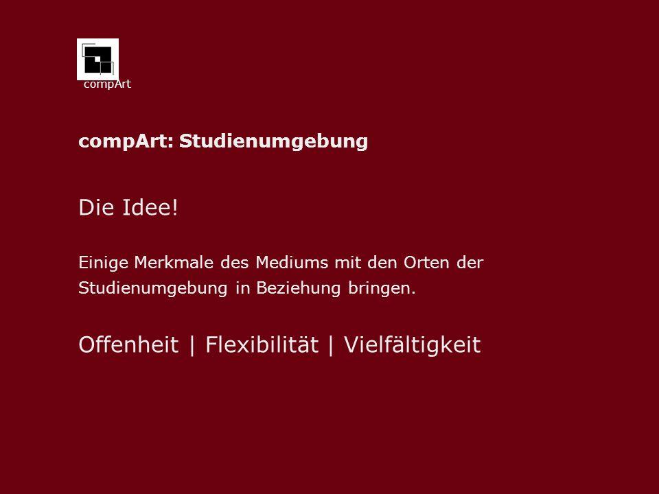 compArt: Studienumgebung Die Idee.