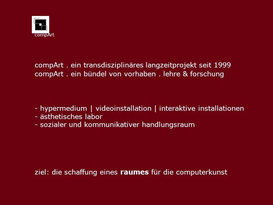 compArt compArt.ein transdisziplinäres langzeitprojekt seit 1999 compArt.