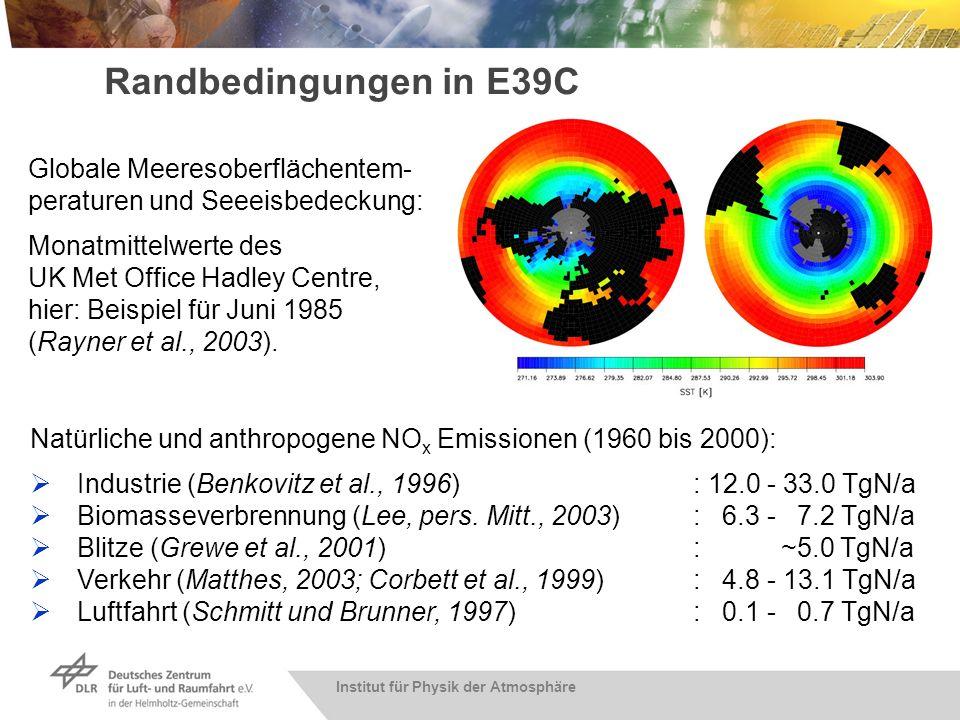 Institut für Physik der Atmosphäre Randbedingungen in E39C Natürliche und anthropogene NO x Emissionen (1960 bis 2000): Industrie (Benkovitz et al., 1