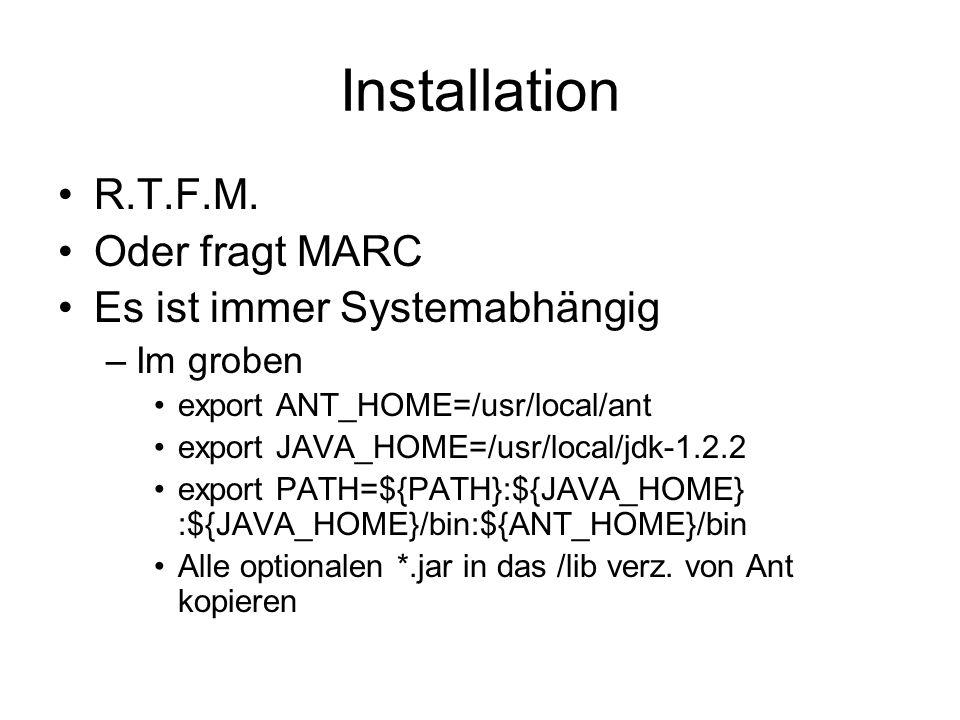 Installation R.T.F.M.