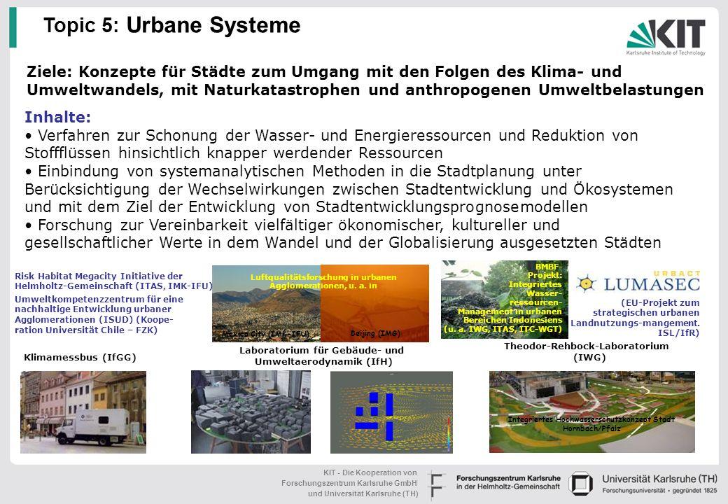 KIT - Die Kooperation von Forschungszentrum Karlsruhe GmbH und Universität Karlsruhe (TH) Ausgewählte Projekte und Kooperationen: BMBF-Projekte zur Ro