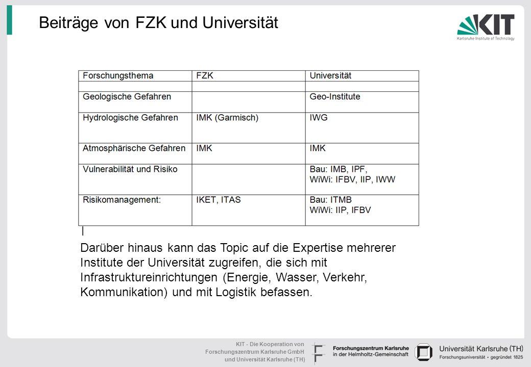 KIT - Die Kooperation von Forschungszentrum Karlsruhe GmbH und Universität Karlsruhe (TH) Entwicklung von Echtzeitinformationssystemen Prognose veränd