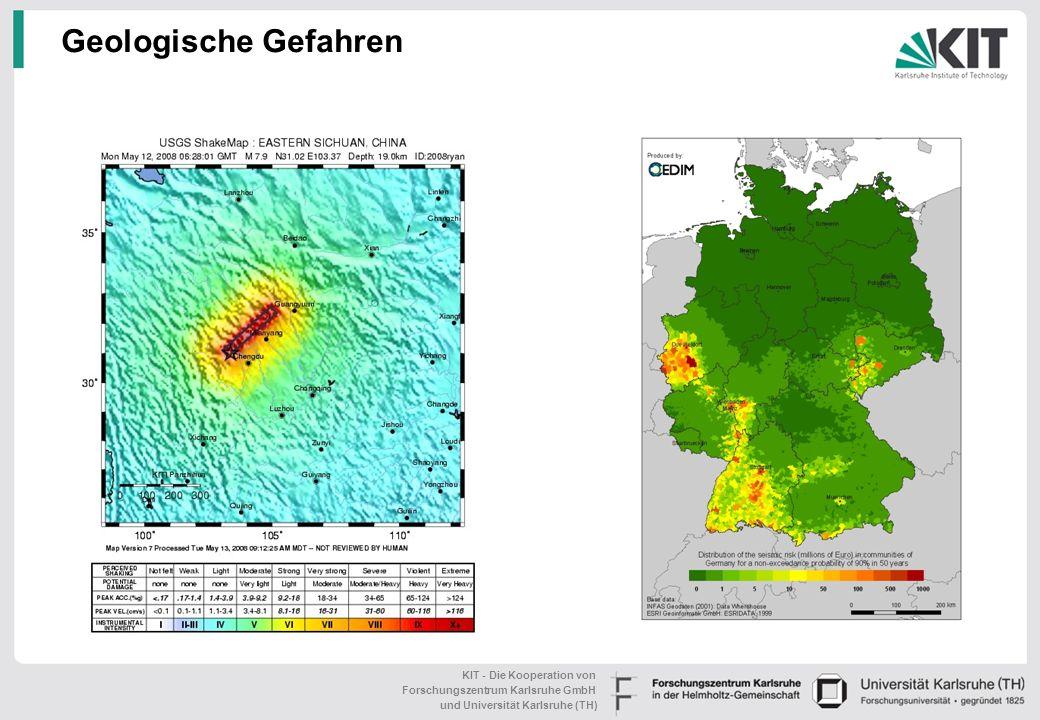 KIT - Die Kooperation von Forschungszentrum Karlsruhe GmbH und Universität Karlsruhe (TH) Topic: Risiken und Risikomanagement Herausforderung:Klimawan