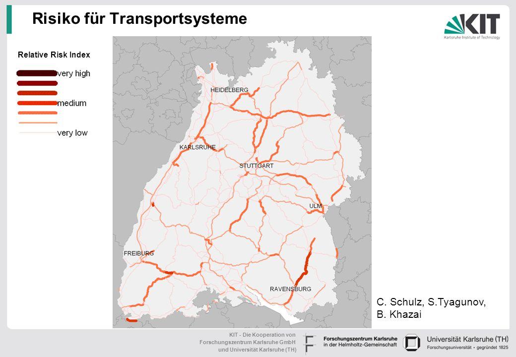 KIT - Die Kooperation von Forschungszentrum Karlsruhe GmbH und Universität Karlsruhe (TH) Risiko für Transportsysteme Relative Risk Index C.