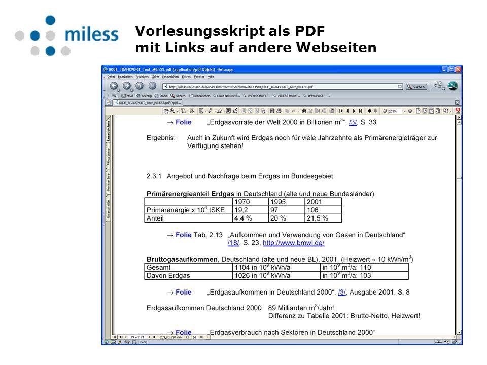 Vorlesungsskript als PDF mit Links auf andere Webseiten