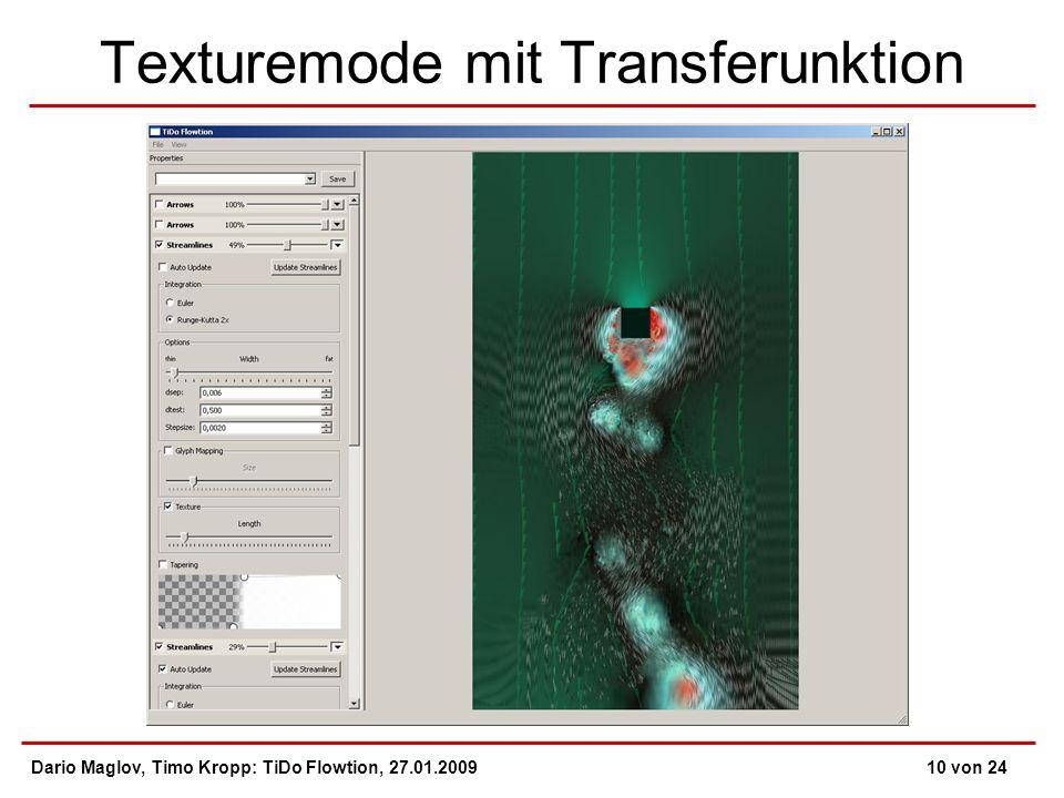 Texturemode mit Transferunktion Dario Maglov, Timo Kropp: TiDo Flowtion, 27.01.200910 von 24