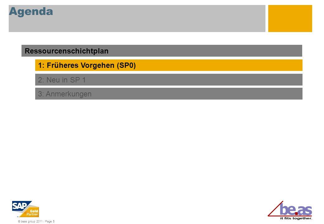 © beas group 2011 / Page 6 Ressourcenschichtplan Allgemein In be.as 2009 SP1 wurde der Betriebskalender erweitert.