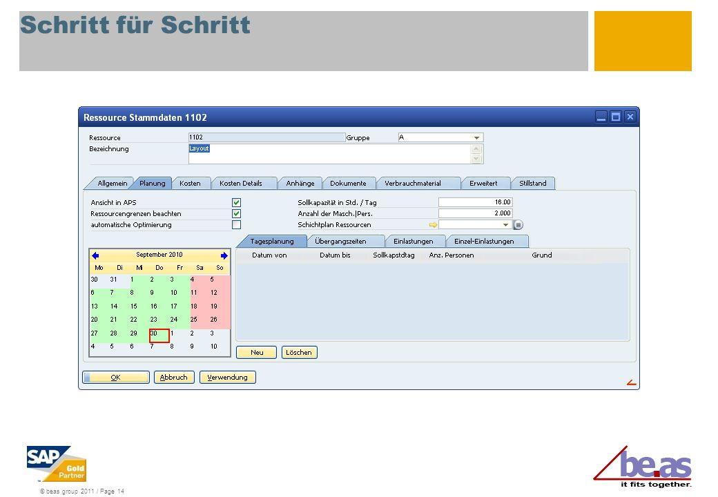 © beas group 2011 / Page 14 Schritt für Schritt