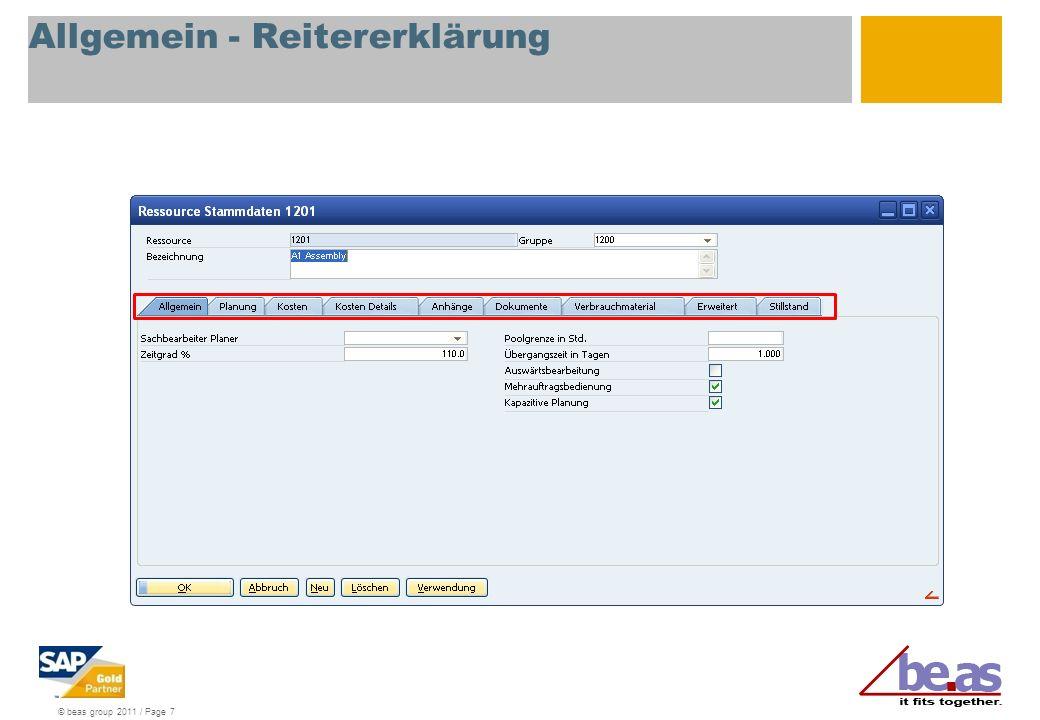 © beas group 2011 / Page 7 Allgemein - Reitererklärung