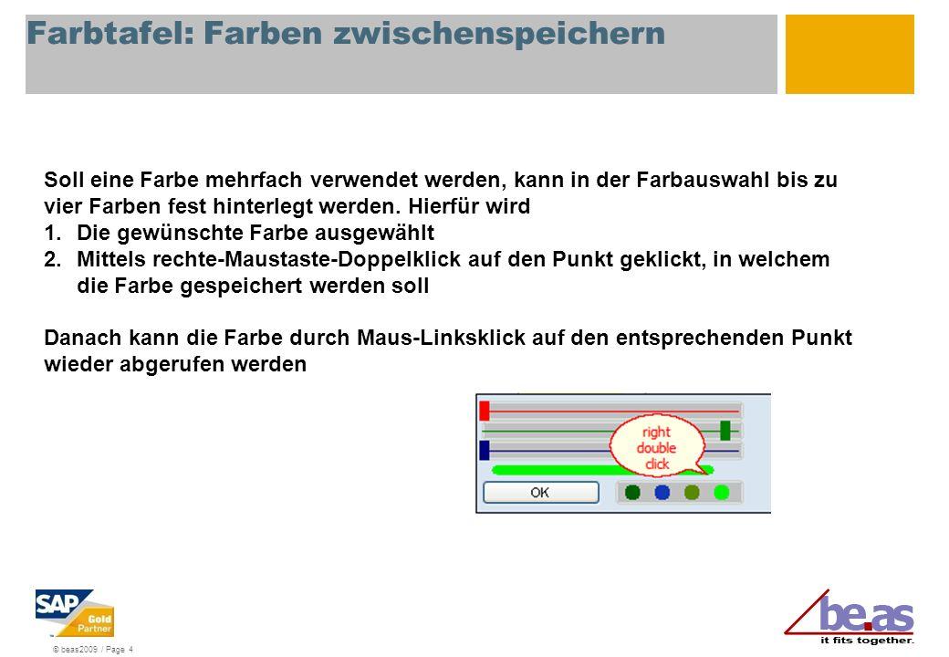 © beas2009 / Page 5 Einschränkungen, Technik Falls der Text geändert wird, so wird dieser bei Umstellung der Sprache nicht übersetzt.