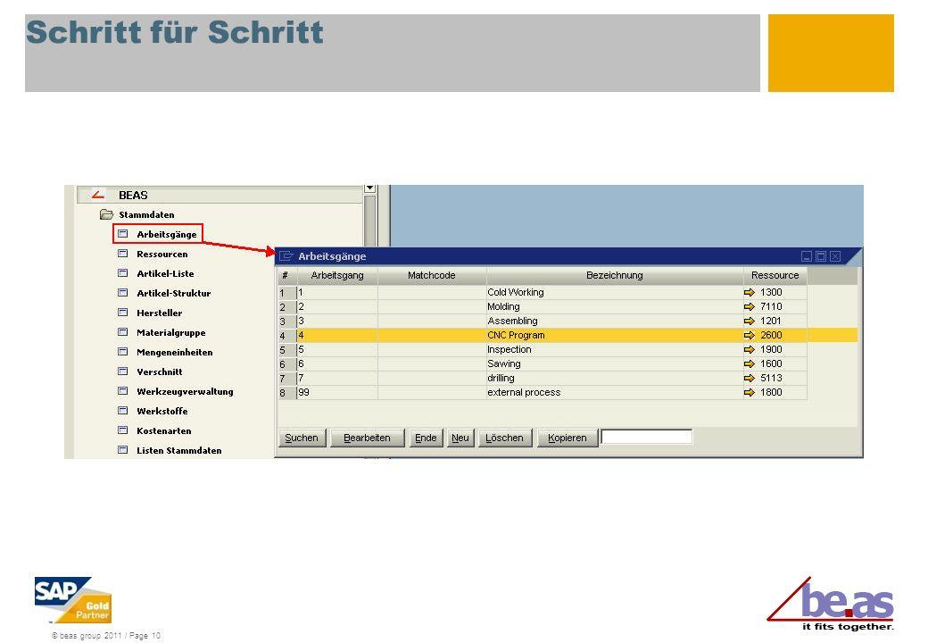 © beas group 2011 / Page 10 Schritt für Schritt