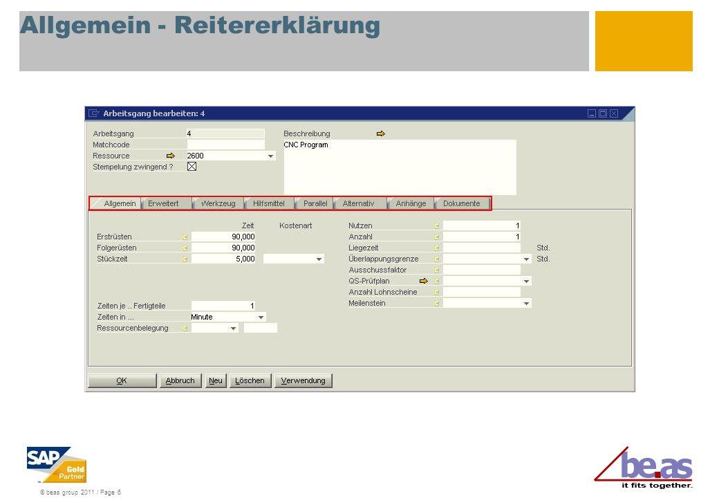 © beas group 2011 / Page 6 Allgemein - Reitererklärung