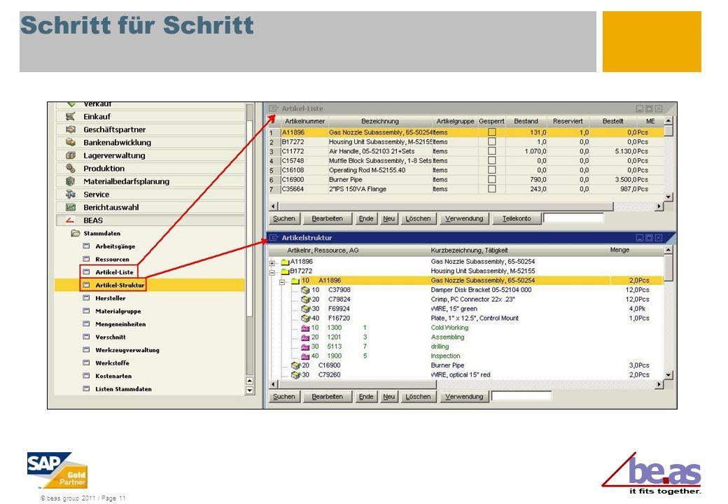 © beas group 2011 / Page 11 Schritt für Schritt