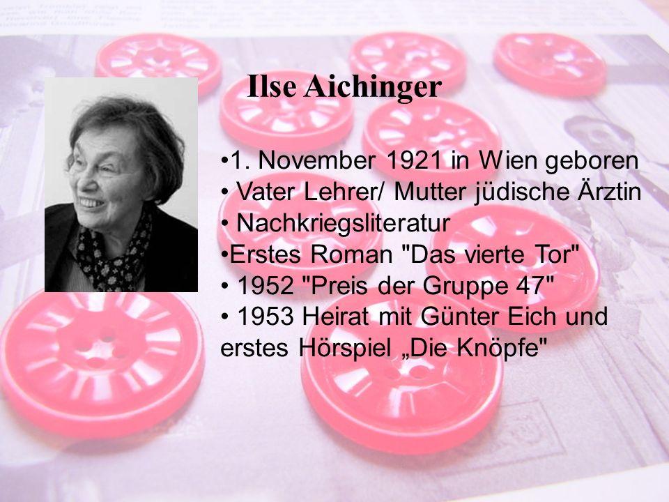 Entstehung Gescichte des Textes Der Autor wird geprägt vom zweitem Weltkrieg.