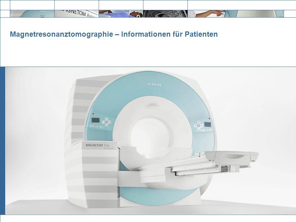 Exit Magnetresonanztomographie – Informationen für Patienten