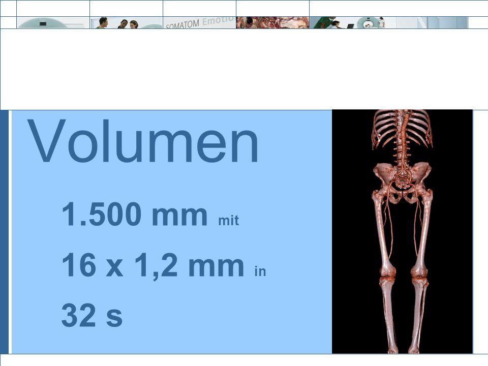 Volumen 1.500 mm mit 16 x 1,2 mm in 32 s