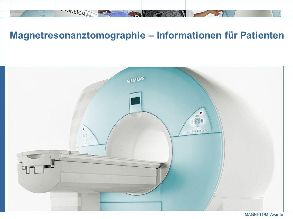 MAGNETOM Avanto Exit Magnetresonanztomographie – Informationen für Patienten