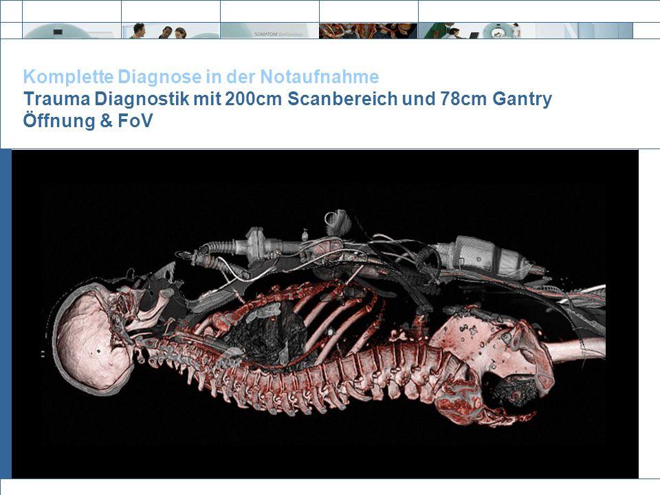 Exit Komplette Diagnose in der Notaufnahme Trauma Diagnostik mit 200cm Scanbereich und 78cm Gantry Öffnung & FoV