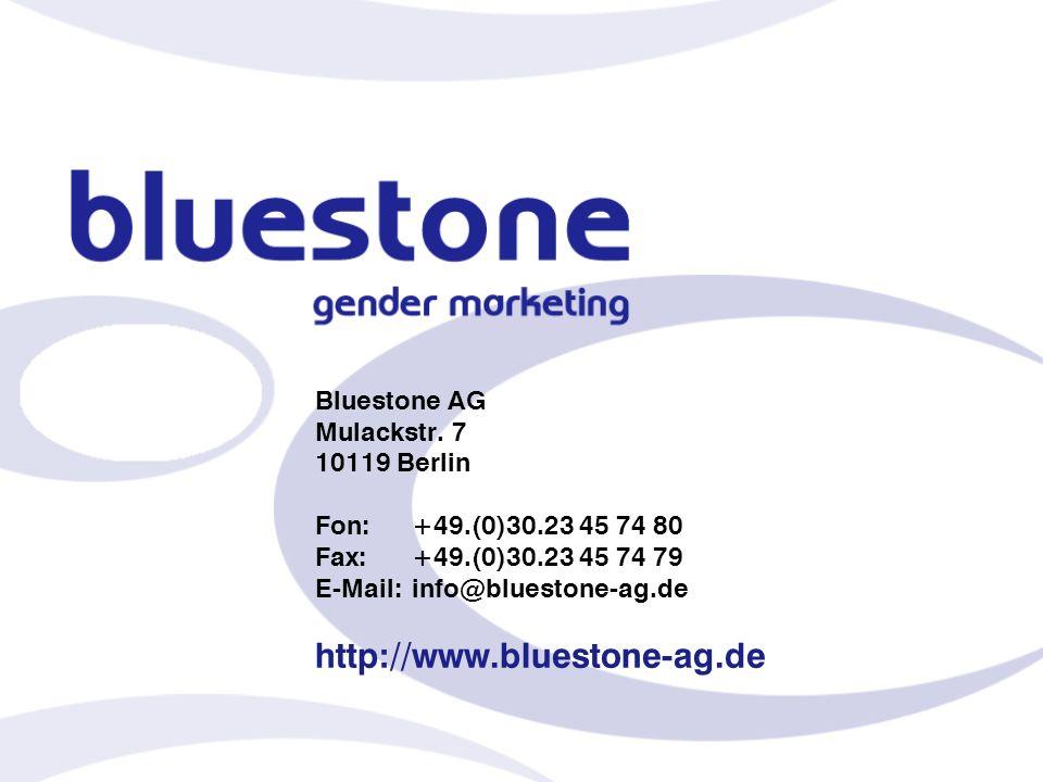 Bluestone AG Mulackstr. 7 10119 Berlin Fon:+49.(0)30.23 45 74 80 Fax:+49.(0)30.23 45 74 79 E-Mail:info@bluestone-ag.de http://www.bluestone-ag.de