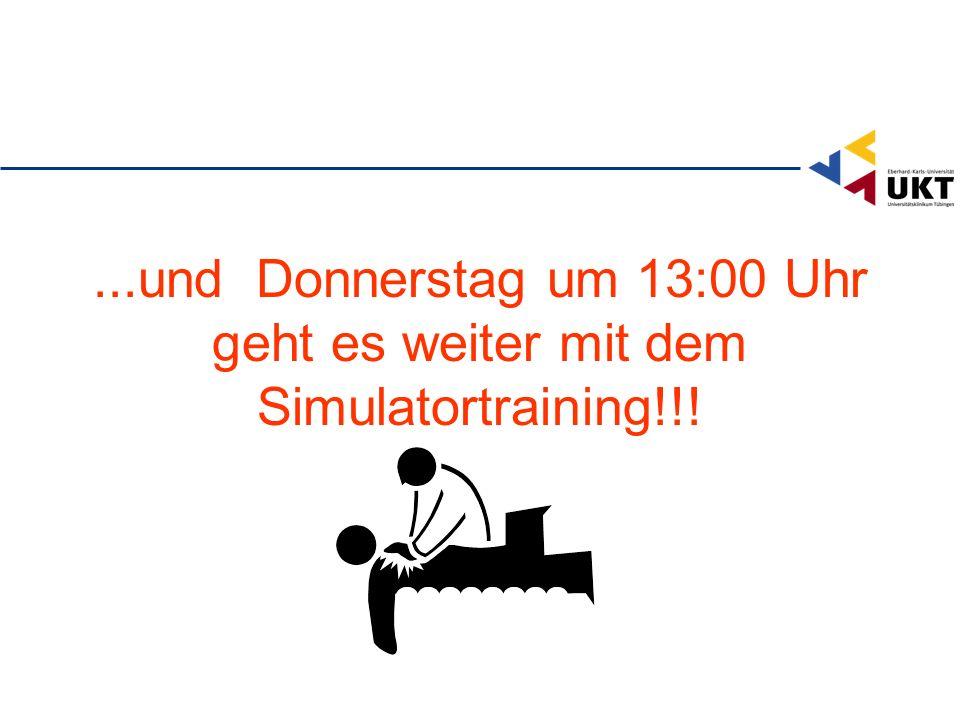 ...und Donnerstag um 13:00 Uhr geht es weiter mit dem Simulatortraining!!!