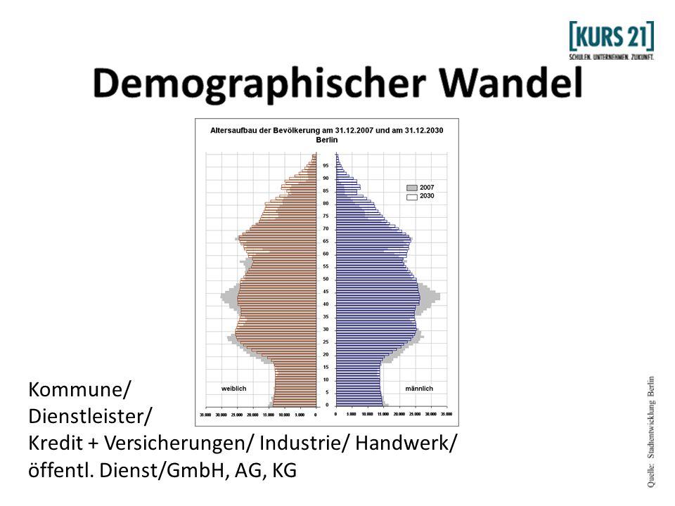 Kommune/ Dienstleister/ Kredit + Versicherungen/ Industrie/ Handwerk/ öffentl. Dienst/GmbH, AG, KG